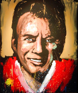 Joe Montana 2008 69x56  Huge Original Painting - David Garibaldi