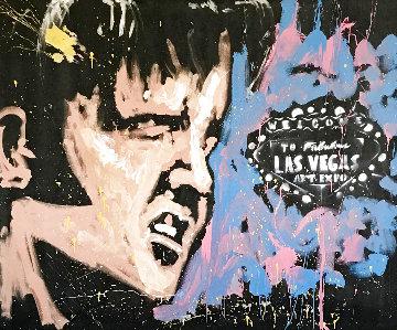 Elvis + Vegas 2007 58x71 Huge Original Painting - David Garibaldi