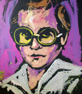 Elton John 2010 Original Painting - David Garibaldi