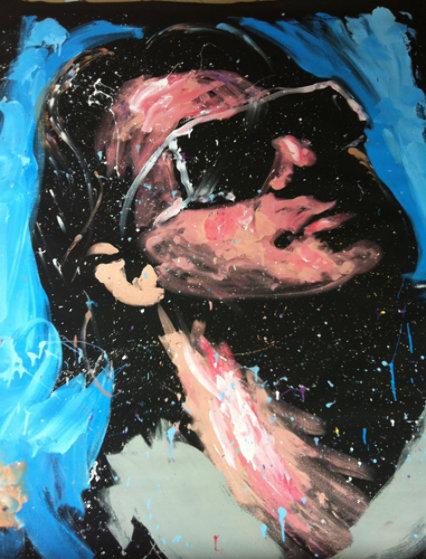 Bono U2 2008 72x60 Original Painting by David Garibaldi