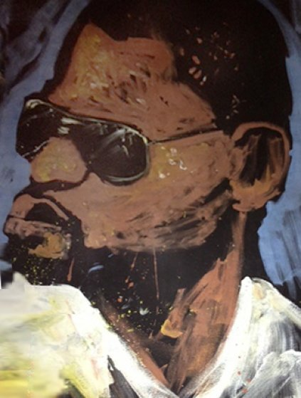 Kanye West 2006 72x60 Original Painting by David Garibaldi