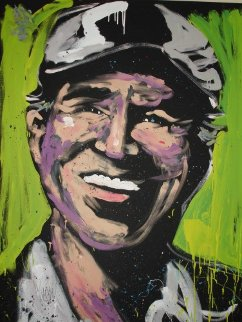 Jimmy Buffett 2011 72x60 Super Huge Original Painting - David Garibaldi