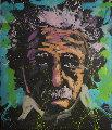 Albert Einstein  1010 69x62 Original Painting - David Garibaldi
