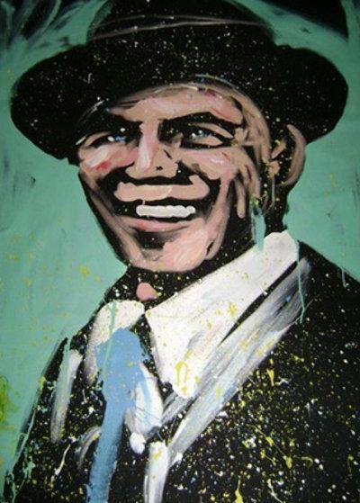 Frank Sinatra 2008 Original Painting by David Garibaldi