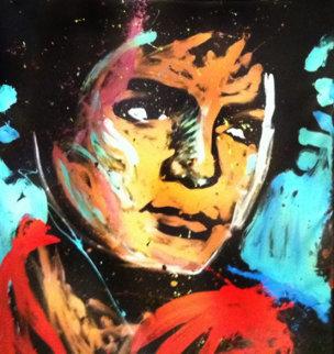 Michael Jackson 2012 72x60 Original Painting - David Garibaldi