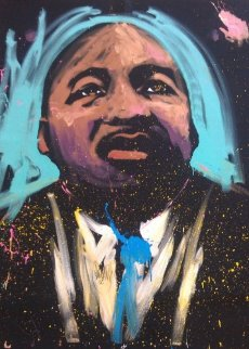Martin Luther King (Selma) 70x59 2008 Super Huge Original Painting - David Garibaldi