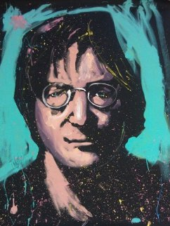 John Lennon 2008 70x58 Super Huge Original Painting - David Garibaldi