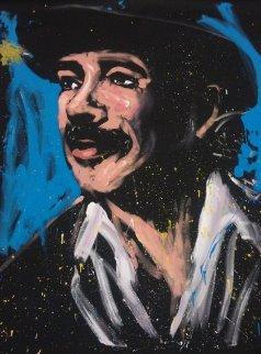 Carlos Santana 2008 71x58 Huge  Original Painting - David Garibaldi