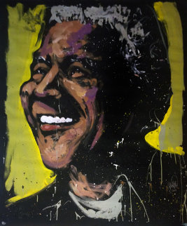 Nelson Mandela 72x60 Super Huge Original Painting - David Garibaldi