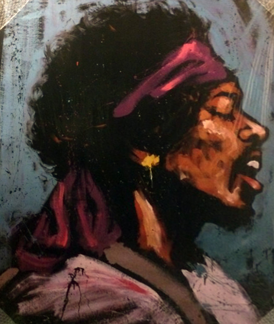 Jimi Hendrix - Bandana 2008 50x60 Super Huge Limited Edition Print by David Garibaldi