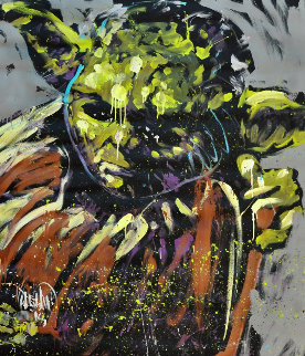 Yoda 2015 72x63 Star Wars Super Huge Original Painting - David Garibaldi