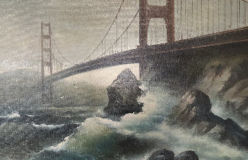 Golden Gate Bridge 33x56 Original Painting - Eugene Garin