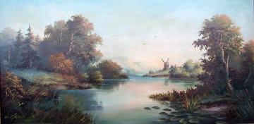 Meadow 1952 27x51 Huge Original Painting - Eugene Garin