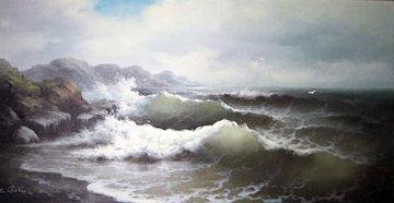 Seascape 1980 36x60 Original Painting - Eugene Garin