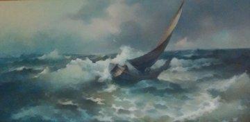 Sailors Plight 1971 24x48 Original Painting by Eugene Garin