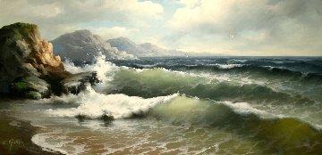 Shores 1970 29x53 Huge Original Painting - Eugene Garin