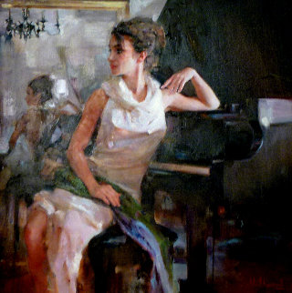 Graceful 44x44 Original Painting by Michael and Inessa  Garmash