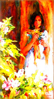 Missing My Love 48x28 Original Painting - Michael and Inessa  Garmash