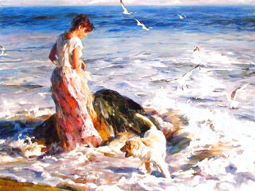 Moments in the Sun 2006 Embellished Limited Edition Print - Michael and Inessa  Garmash