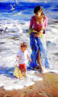 Precious Moments 2006 Embellished 40x24 Huge Limited Edition Print - Michael and Inessa  Garmash