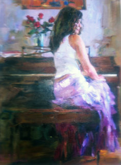 Silent Pause 2007 Original Painting - Michael and Inessa  Garmash