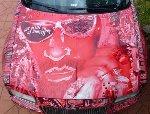 Chrysler 300 Art Car - Artist Vision of Himself 2013 Photography - Laurence Gartel