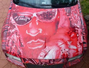 Chrysler 300 Art Car - Artist Vision of Himself 2013 Photography - Laurence Gartel
