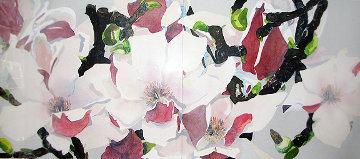 Japanese Magnolia  Diptych 1984 39x59 Huge  Limited Edition Print - Gary Bukovnik