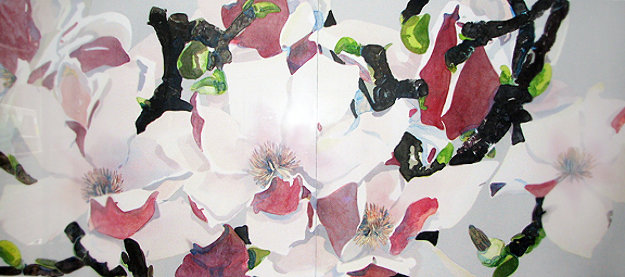 Japanese Magnolia  Diptych 1984 Limited Edition Print by Gary Bukovnik