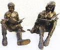 Once Upon a Time Bronze Sculpture Set of 2 -  1993 17 in Sculpture - Gary Lee Price
