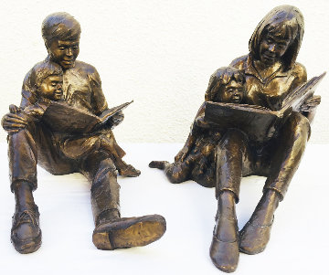 Once Upon a Time Bronze Sculpture (Two Pieces) 1993 17 in Sculpture - Gary Lee Price
