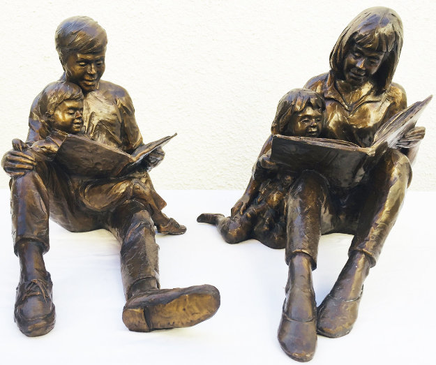 Once Upon a Time Bronze Sculpture (Two Pieces) 1993 17 in Sculpture by Gary Lee Price