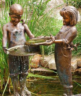 Nature's Friends, Set of 2 Bronze Sculptures 45 in Sculpture - Gary Lee Price