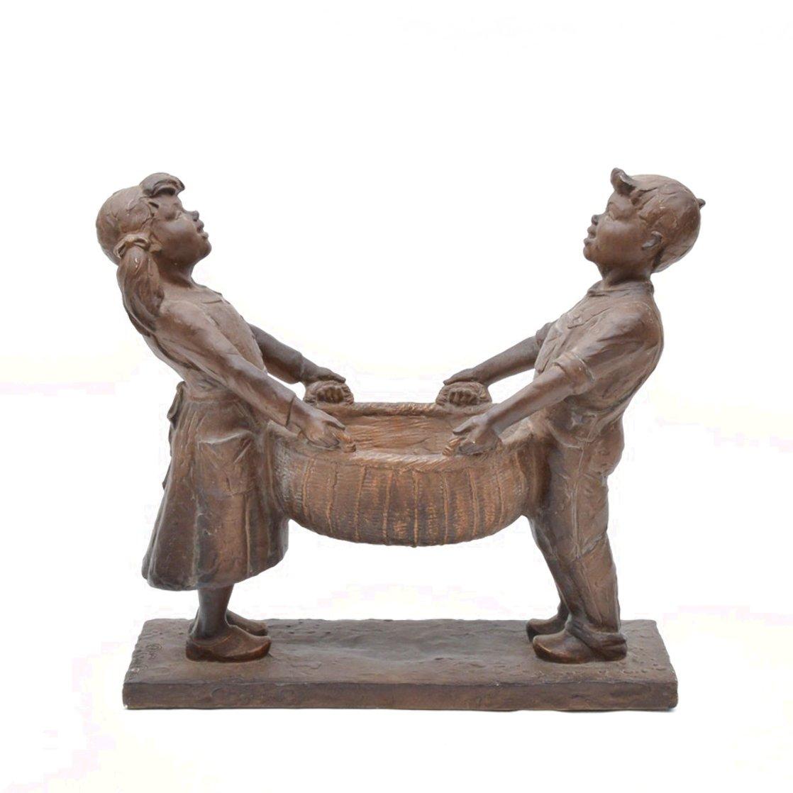 Harvest Joy Kids Bronze Sculpture 2001 26 in Sculpture by Gary Lee Price