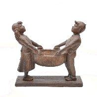Harvest Joy Kids Bronze Sculpture 2001 26 in Sculpture by Gary Lee Price - 0