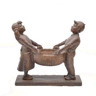 Harvest Joy Kids Bronze Sculpture 2001 26 in Sculpture - Gary Lee Price