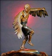 Winged Messenger Bronze Sculpture 1980 27x22 Sculpture by Gary Lee Price - 0