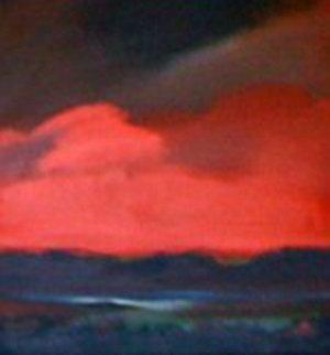 Red Sand 36x38 Original Painting by Jerome Gastaldi