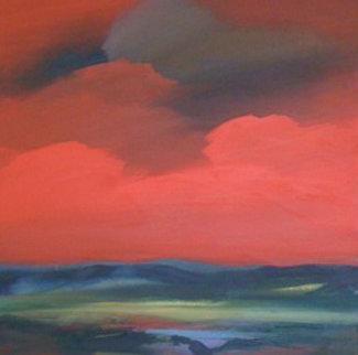 Thunderbird 2005 38x38 Original Painting - Jerome Gastaldi