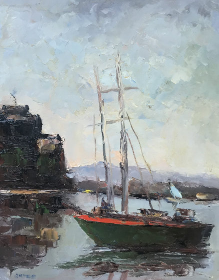 Untitled Seascape 28x24 Original Painting by Jack  Gates