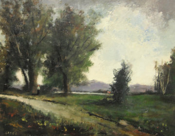 Meadow Stroll 1983 27x23 Original Painting by Jack  Gates