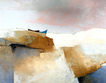 Face a La Mer 1984 40x31 Original Painting - Claude Gaveau