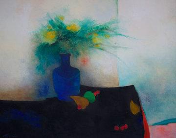 Table Noire 1989 29x36 Original Painting - Claude Gaveau