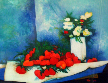Flowers And Tomatoes Limited Edition Print by Claude Gaveau