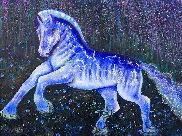 Chiron  2018 48x60 Original Painting - Gaylord Soli  (Gaylord)