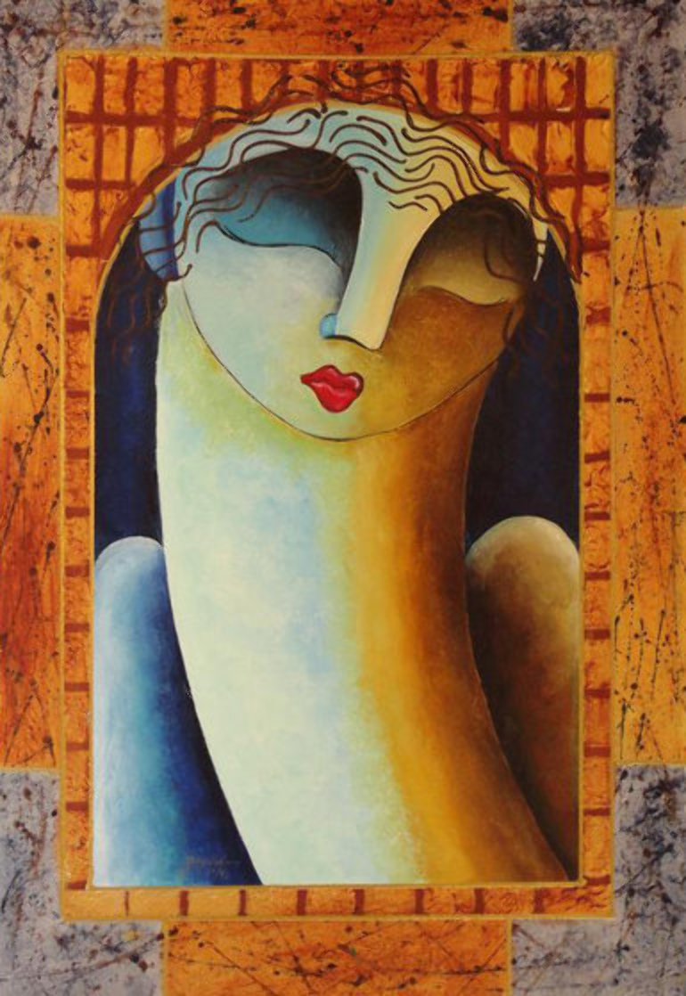 Bente 1982 Heavily Embellished Limited Edition Print by Gaylord Soli  (Gaylord)