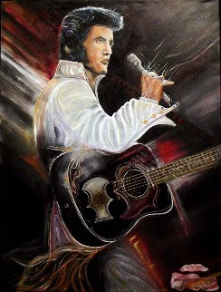 Elvis 1990 Embellished Limited Edition Print by Gaylord Soli  (Gaylord)