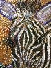 Zebras In Color 2019 36x48 Original Painting by Gaylord Soli  (Gaylord) - 2