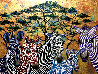 Zebras In Color 2019 36x48 Original Painting by Gaylord Soli  (Gaylord) - 0