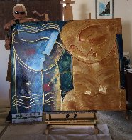Rose 2019 48x60 Super Huge Original Painting by Gaylord Soli  (Gaylord) - 2